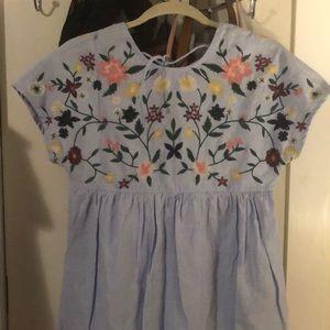 ZARA babydoll dress w/shorts attached